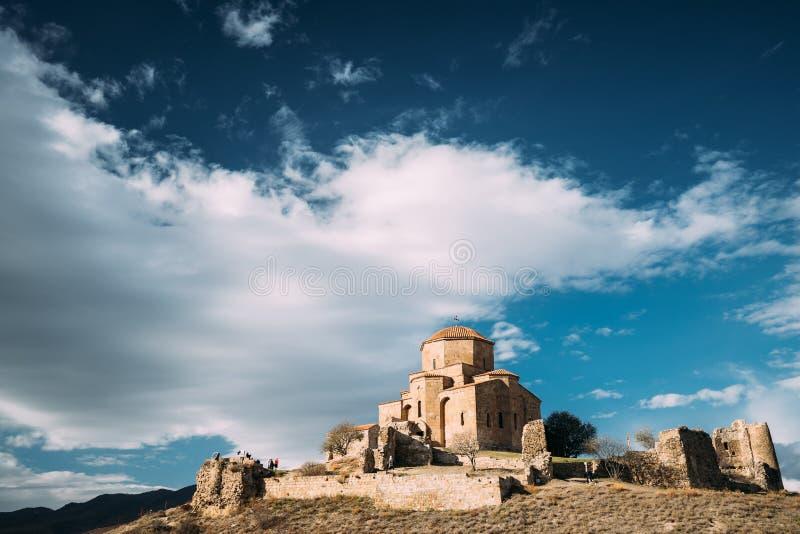 Mtskheta, Georgia. Jvari, Georgian Orthodox Monastery, World Heritage By UNESCO Temple royalty free stock images