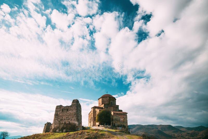 Mtskheta, Georgia. Jvari, Georgian Orthodox Monastery, World Heritage By UNESCO Temple stock photography