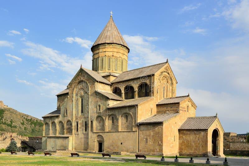 Mtskheta, Sweti Cchoweli - cathedral church in the Mccheta city in Georgia stock photography