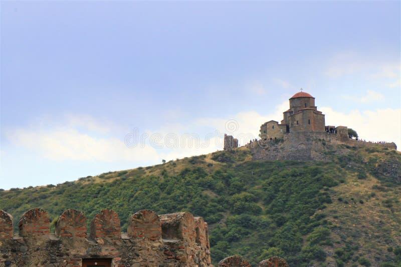 Mtskheta, Tiflis, Georgia Ansicht der UNESCO-Welterbestätte, Svetitskhovely-Kathedrale stockbilder