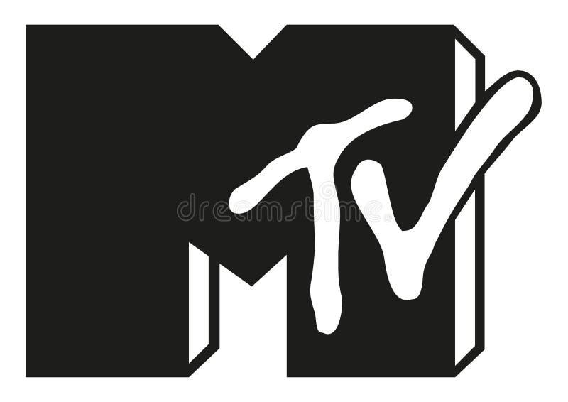 Mtv logo royalty ilustracja