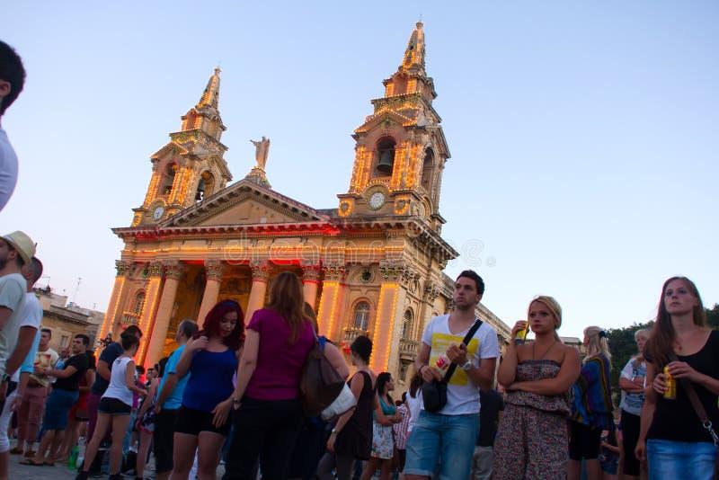MTV-Muziekfestival in Malta stock fotografie