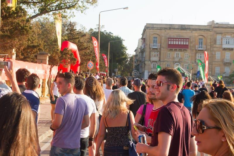 MTV-Muziekfestival in Malta royalty-vrije stock foto