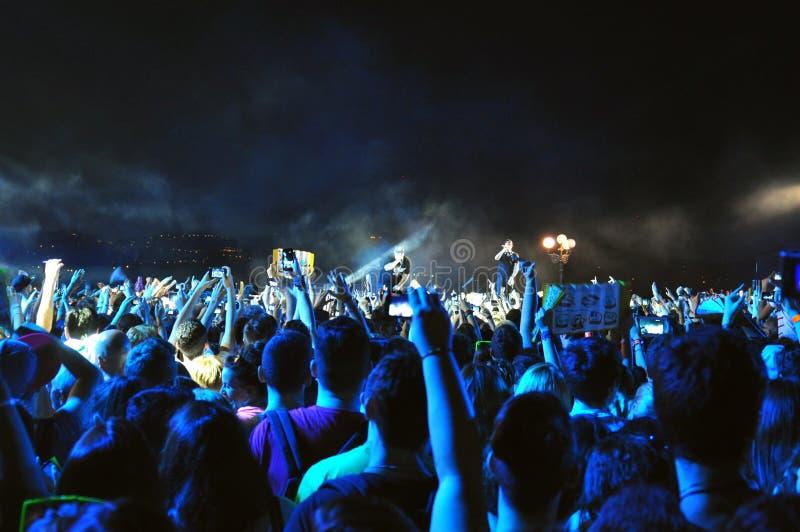 Mtv spricht Konzert in Italien zu lizenzfreies stockfoto