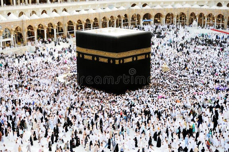 Muçulmanos do Haj de Makkah Kaaba imagens de stock royalty free