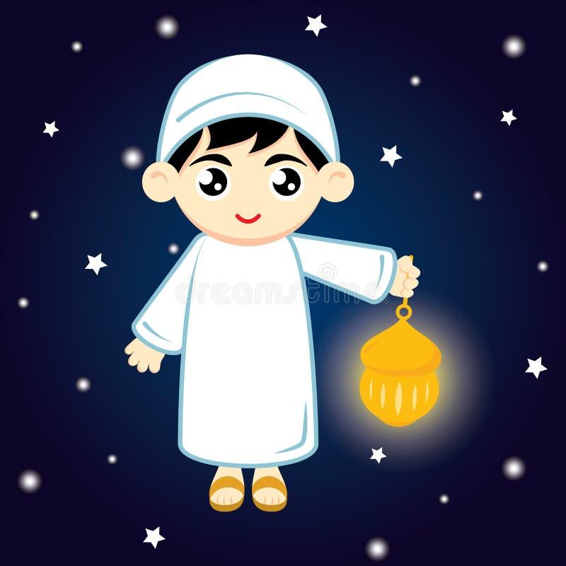 Muçulmanos do menino ilustração stock