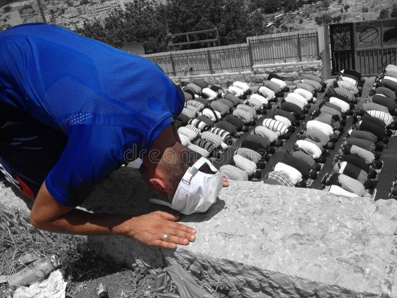 Muçulmanos que praying fotografia de stock royalty free