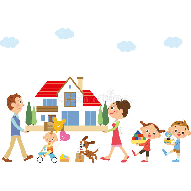 Muévase en familias libre illustration