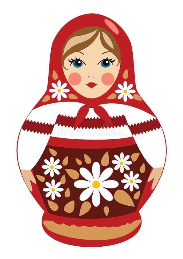 Muñeca de Babushka en ropa del verano imagenes de archivo