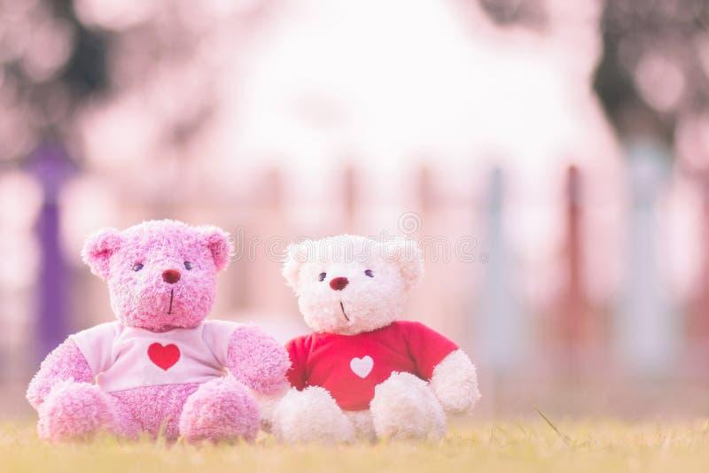 muñeca de dos osos que se sienta junto fotos de archivo