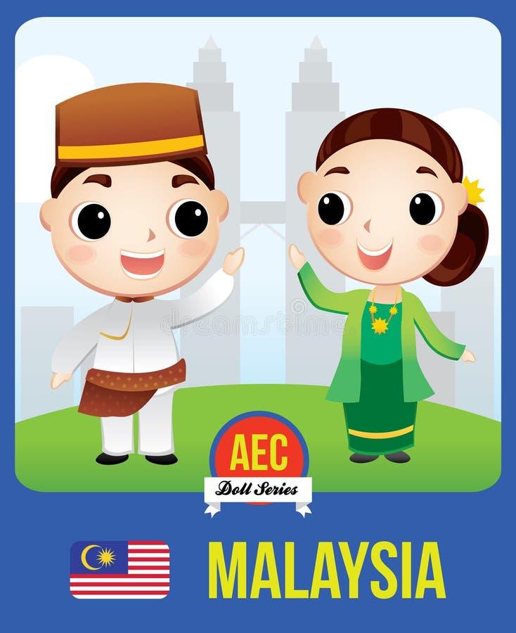 Muñeca del AEC de Malasia ilustración del vector
