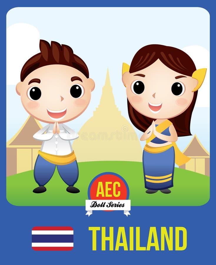 Muñeca del AEC de Tailandia imágenes de archivo libres de regalías