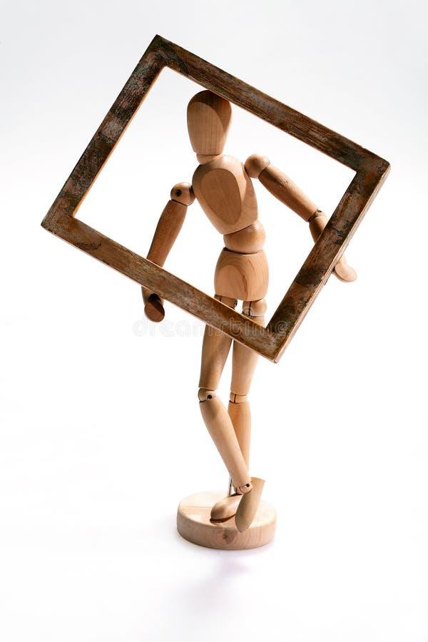 Muñeca del arte con el camino de recortes foto de archivo