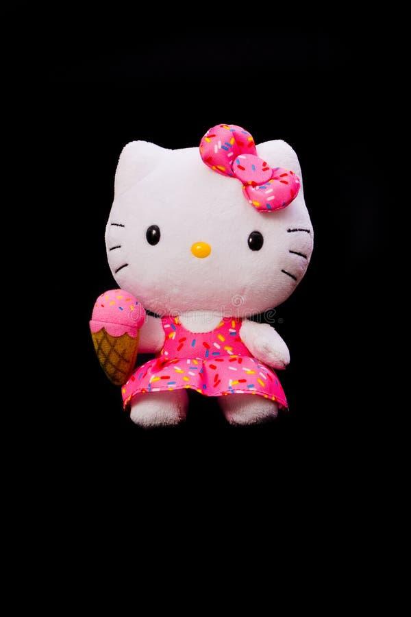 Muñeca del Hello Kitty imagen de archivo