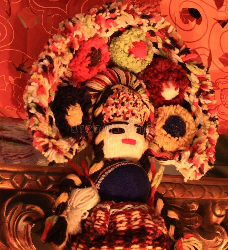 Muñeca del hilado de Zapotec del mexicano imágenes de archivo libres de regalías