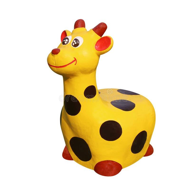 Muñeca del moldeado de la jirafa que pinta el color negro de los puntos de las rayas amarillas para el patio de los niños de la d fotografía de archivo