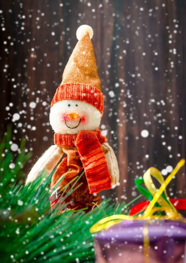 Muñeca del muñeco de nieve fotos de archivo