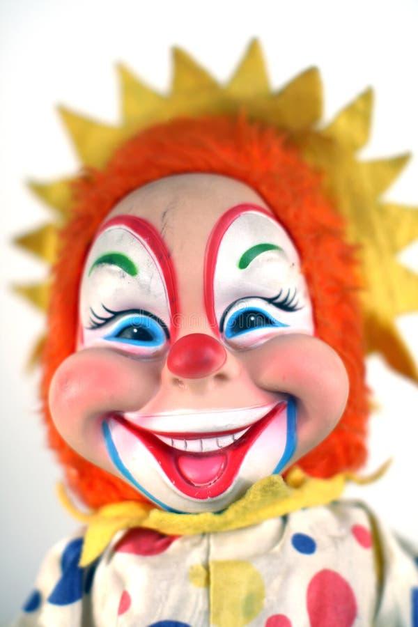 Muñeca del payaso de la vendimia fotografía de archivo libre de regalías
