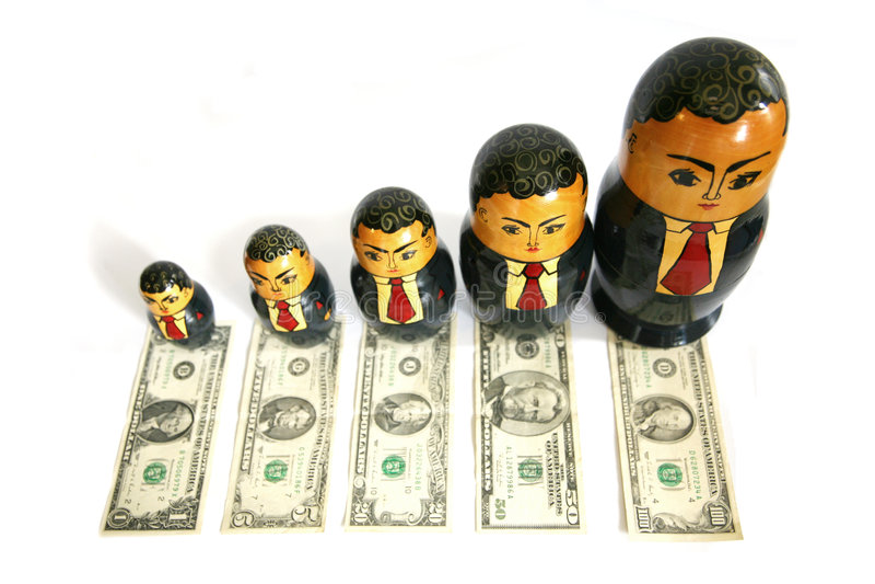 Muñeca del ruso del hombre de negocios imágenes de archivo libres de regalías