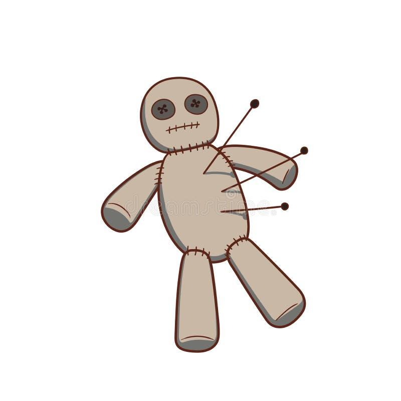 Muñeca del vudú stock de ilustración