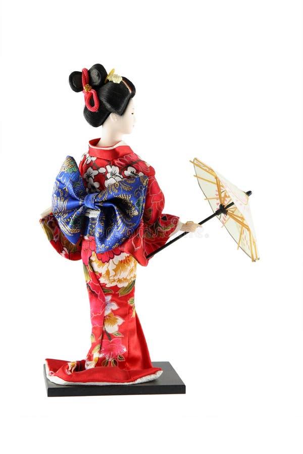 Muñeca femenina de Japón imágenes de archivo libres de regalías