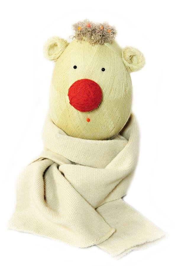 Muñeca hecha a mano con la nariz roja imagen de archivo libre de regalías