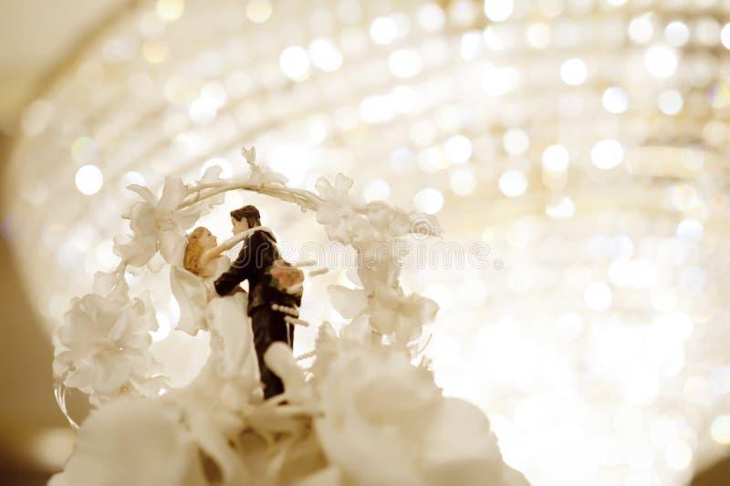 Muñeca miniatura de la boda imágenes de archivo libres de regalías