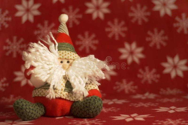 Muñeca rellena linda de Santa imagen de archivo libre de regalías