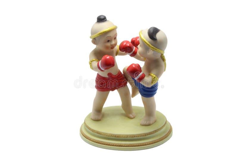 Muñeca tailandesa 2 del boxeo imagenes de archivo