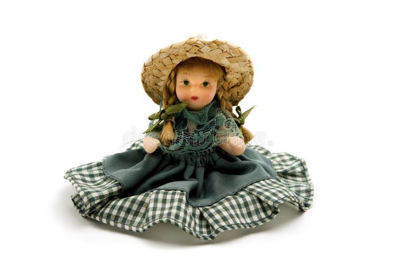 Muñeca vieja de la porcelana fotografía de archivo libre de regalías