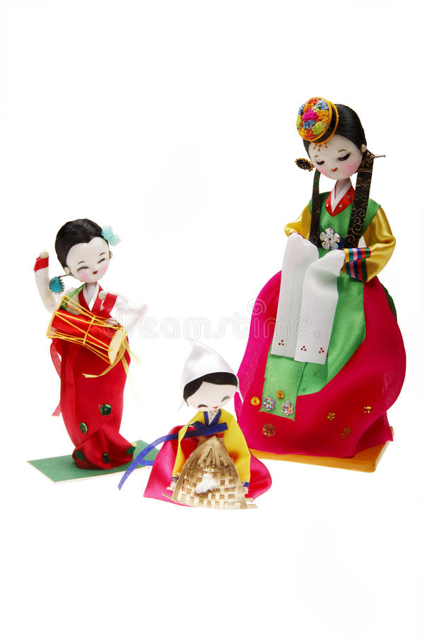 Muñecas de DPR Corea fotografía de archivo