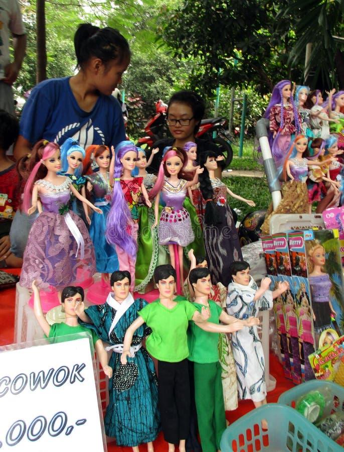 Muñecas de imitación de barbie fotos de archivo libres de regalías