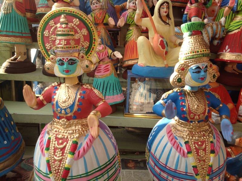 Muñecas de Kathakali fotografía de archivo