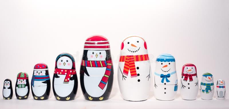 Muñecas de la jerarquización de la Navidad fotos de archivo libres de regalías
