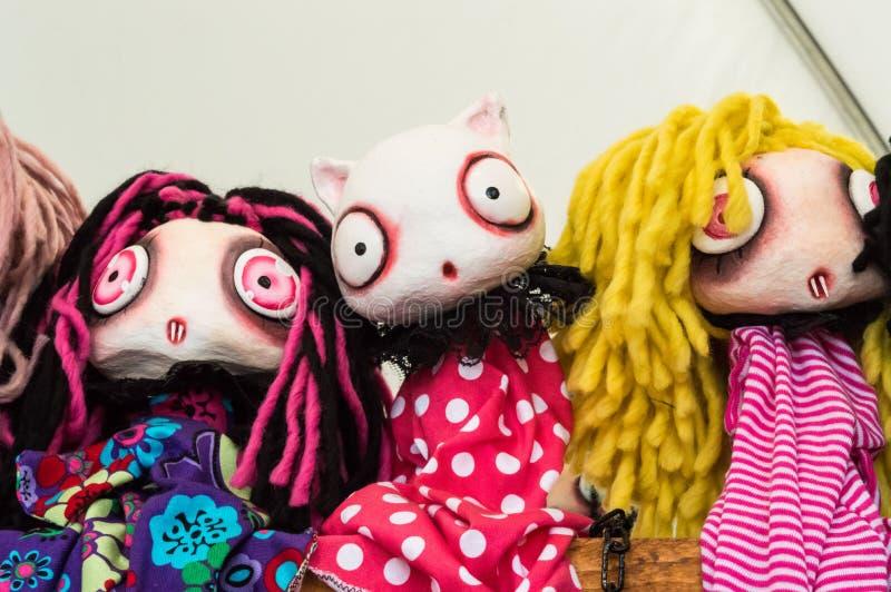 Muñecas en los tebeos 2016 de Lucca imágenes de archivo libres de regalías