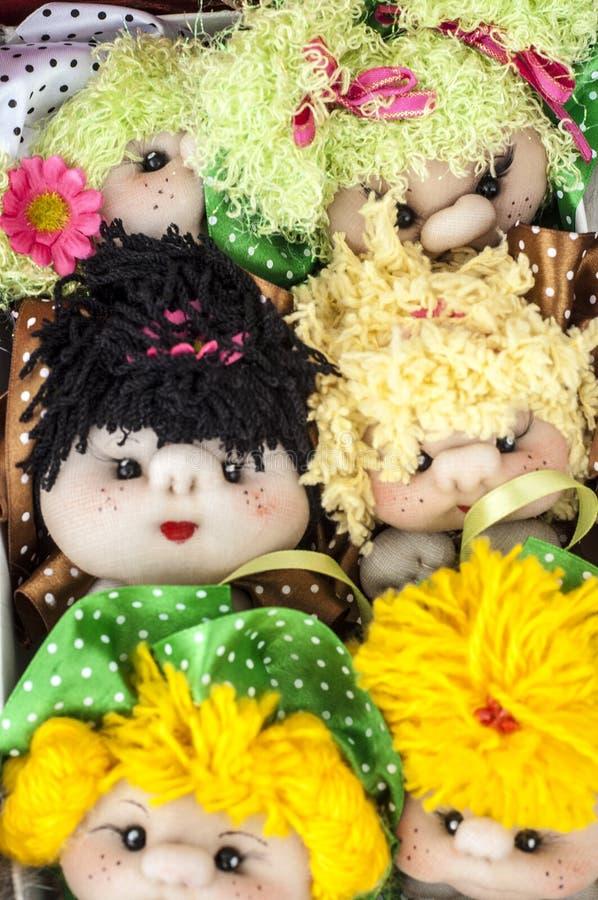 Muñecas hechas a mano fotos de archivo libres de regalías