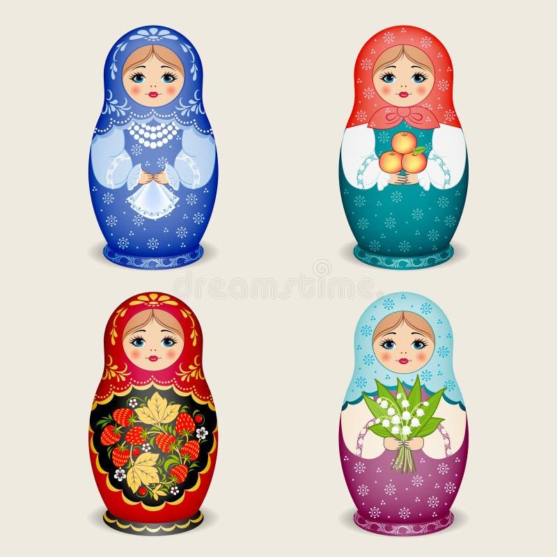 Muñecas rusas - matryoshka Ilustración del vector imagen de archivo