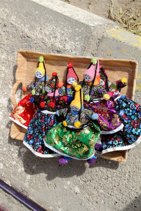 Muñecas turcas hechas a mano imagenes de archivo