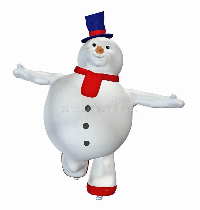 Muñeco de nieve. 11 ilustración del vector