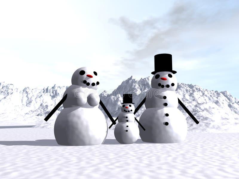 Muñeco de nieve 14 ilustración del vector