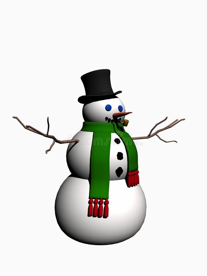 Muñeco de nieve. stock de ilustración