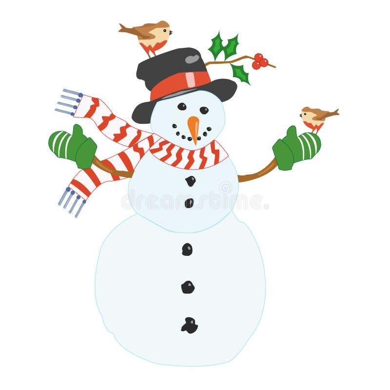 Muñeco de nieve. foto de archivo