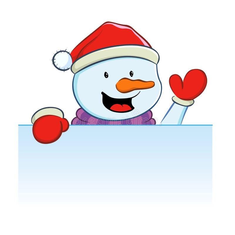 Muñeco de nieve con la muestra en blanco libre illustration