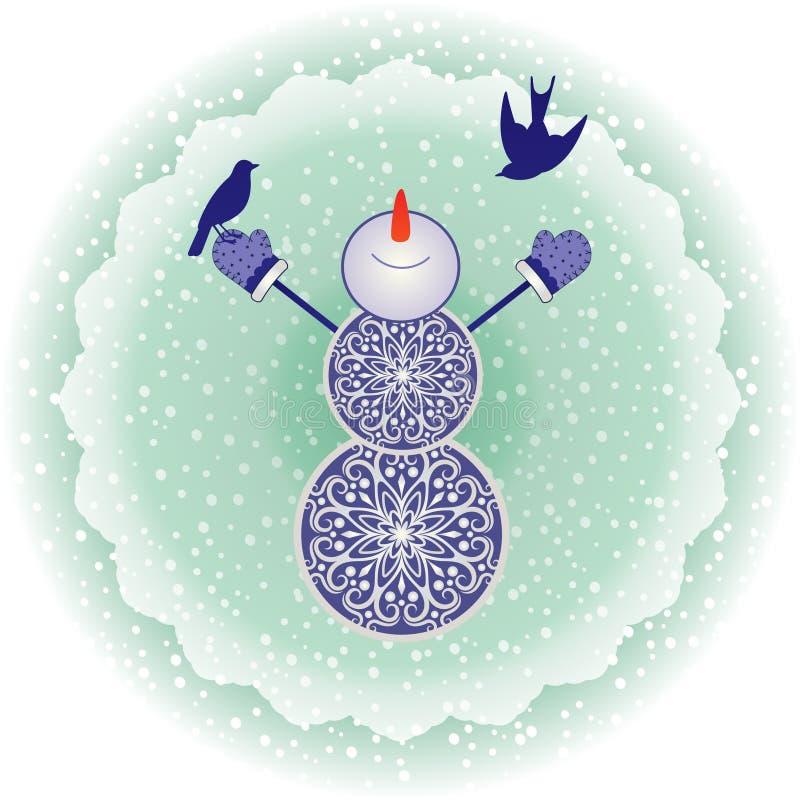 Muñeco de nieve cristalino libre illustration