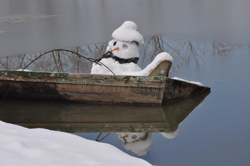 Muñeco de nieve de fusión imagen de archivo