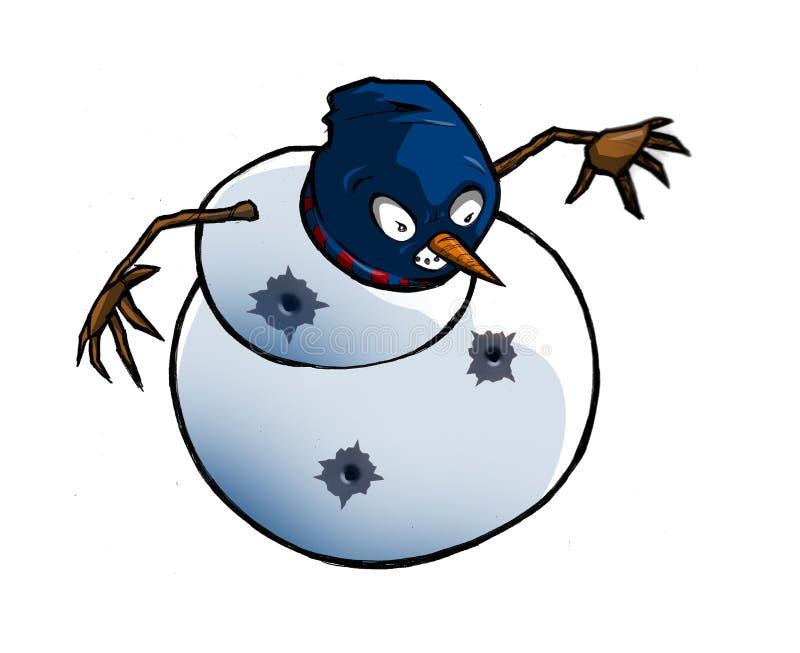 Muñeco de nieve de Gangsta stock de ilustración