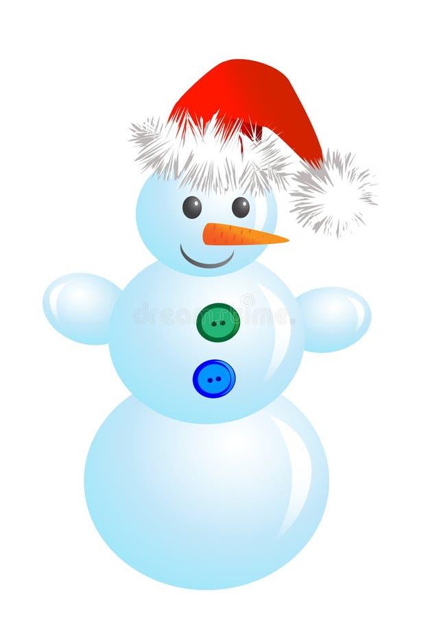 Muñeco de nieve de la Navidad stock de ilustración