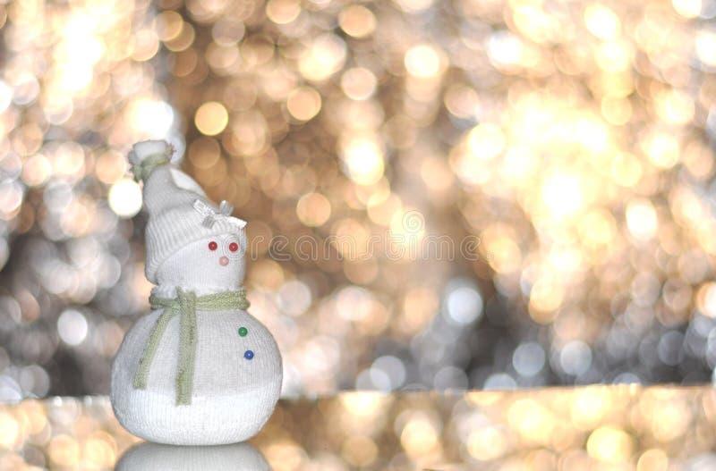 Muñeco de nieve de la Navidad imagen de archivo