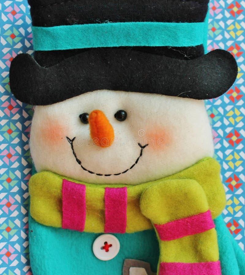 Muñeco de nieve de la Navidad del juguete fotografía de archivo libre de regalías