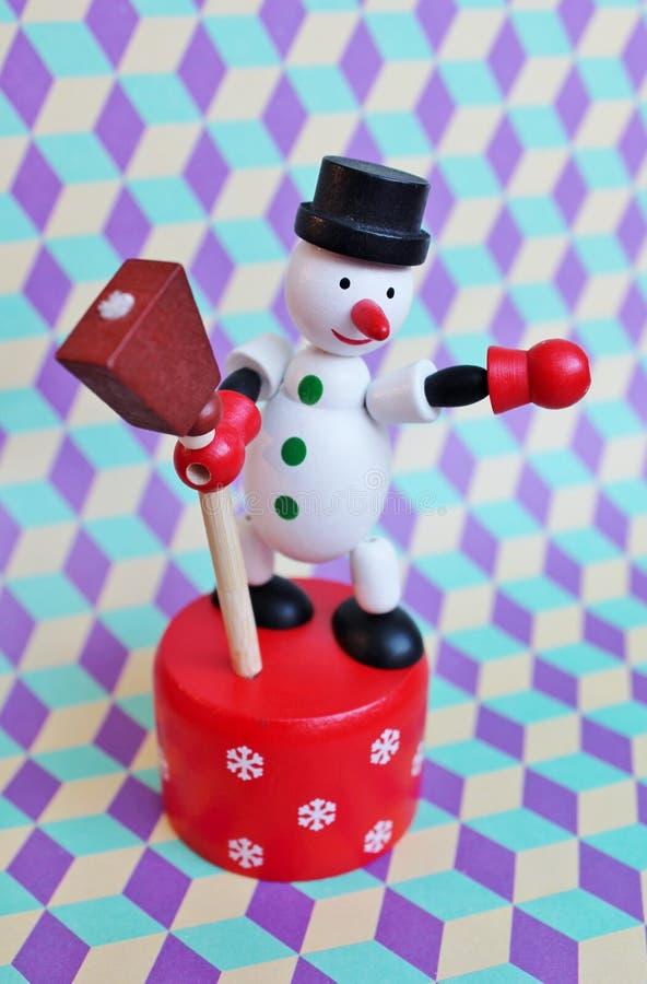 Muñeco de nieve de la Navidad del juguete imagen de archivo libre de regalías